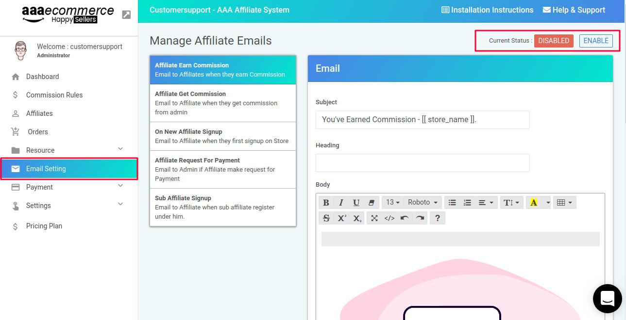 Affiliate-emails