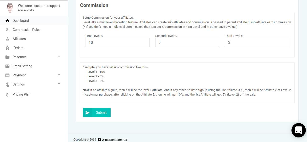 Affiliate-commission-rule