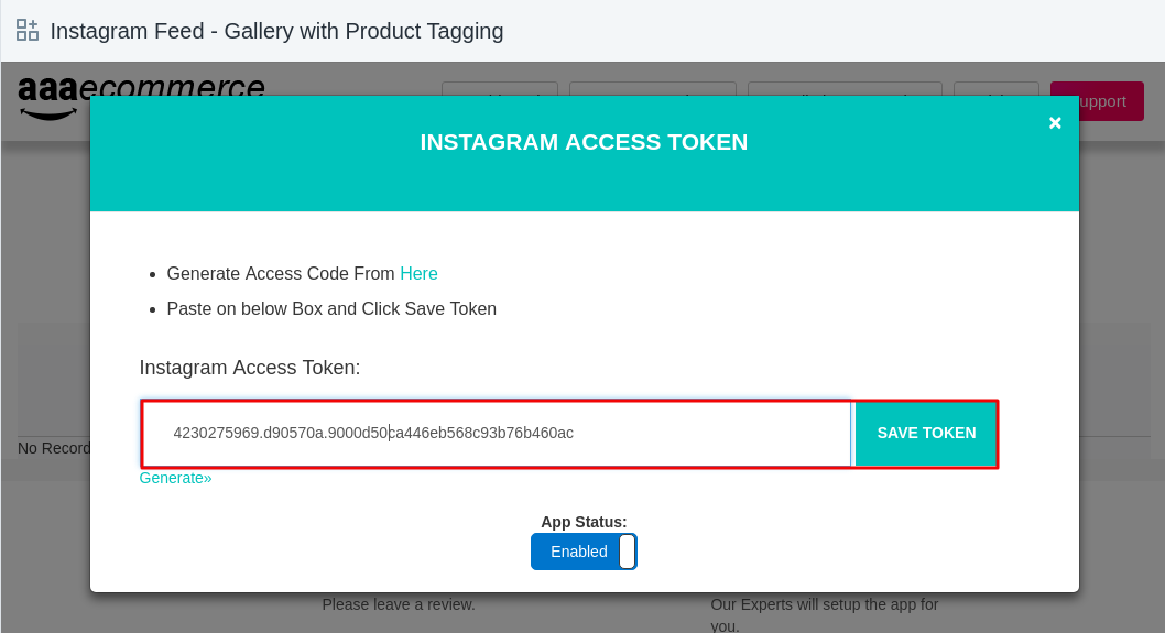 Generate Instagram access token