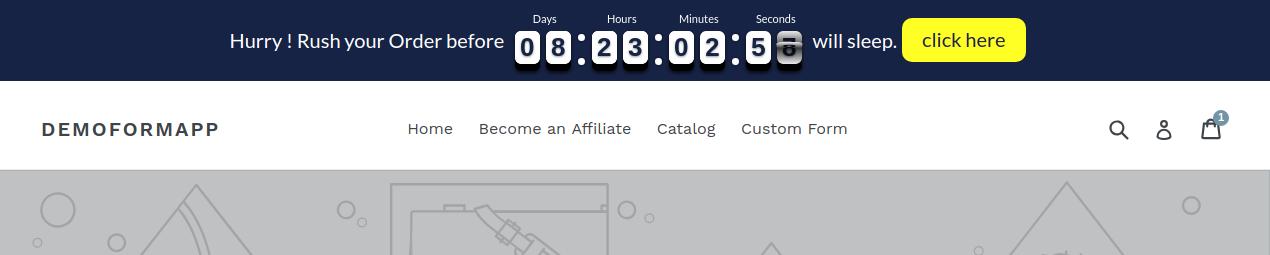 Countdown timer bar