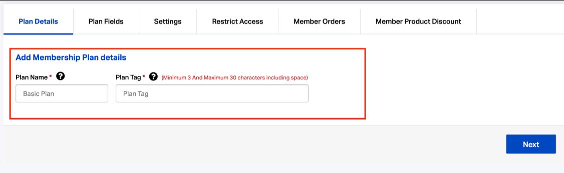 Create free members plan on Shopify membership app